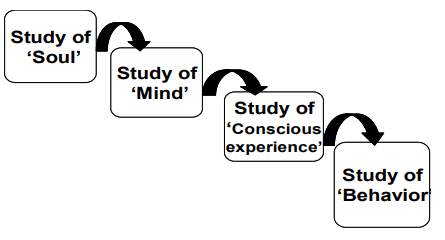 Man Studies himself in psychology