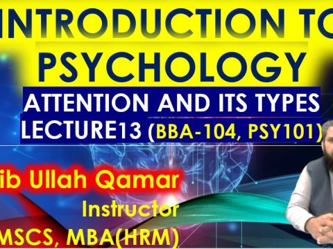 attention and its types intro to phycology