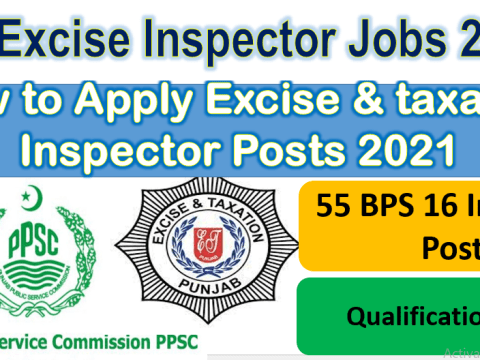 PPSC Excise and Taxation Inspector Jobs 2021