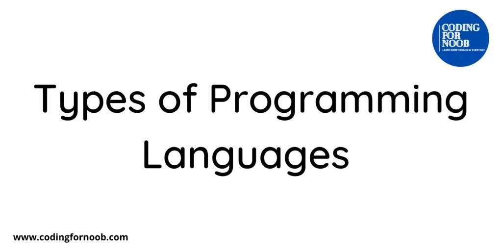 Types-of-Programming-Languages