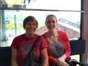 Momlette & Bean on the gondola