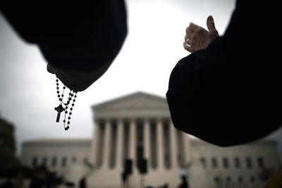 Anti-Abortion Activists Demonstrate Outside The Supreme Court