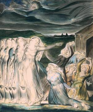 The Parable of the Wise and Foolish Virgins null by William Blake 1757-1827