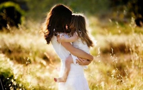 Mother & Daughter's Love Wide Desktop Background