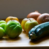 green tomato, apple & zucchini chutney