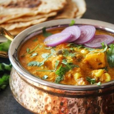 Paneer, Mushroom, Corn Curry