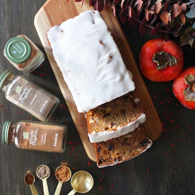 Persimmon Fruit and Nut Loaf