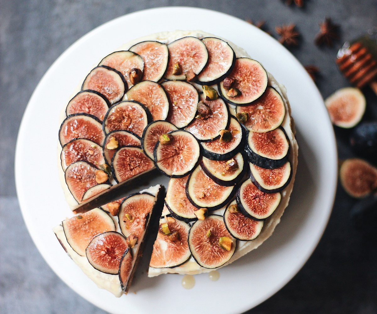 Fig, Pistachio and Star Anise Cake