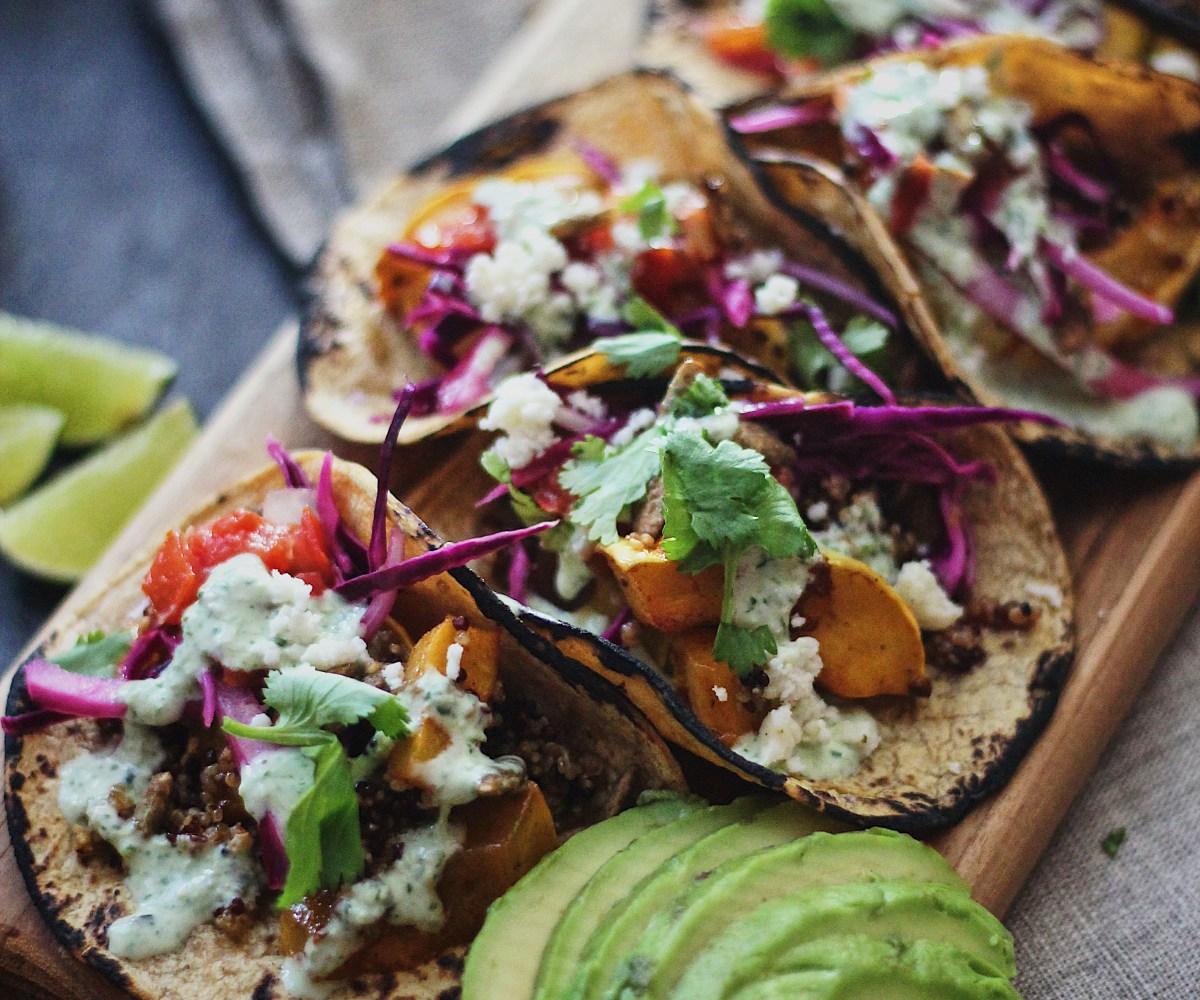 Winter Squash and Quinoa Tacos