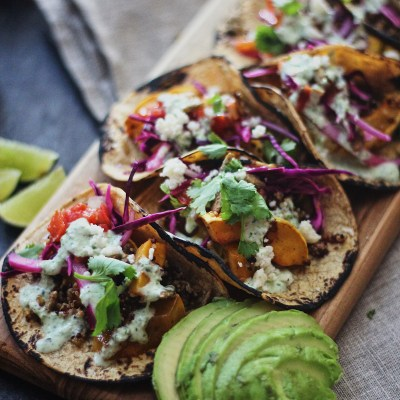 Winter Squash and Quinoa Tacos