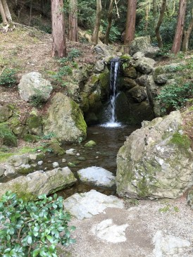The very small waterfall!