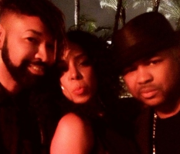 ty hunter-kelly rowland-the dream-beyonce new years eve 2014 versace house party-the jasmine brand