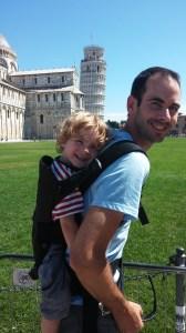 Baby Bjorn in Pisa