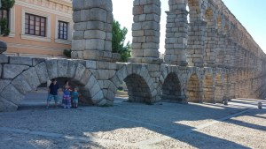 Roman aqueducts in Seville Spain