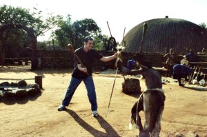 Zulu stick fighting