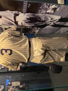 Babe Ruth uniform in Baseball Hall of Fame