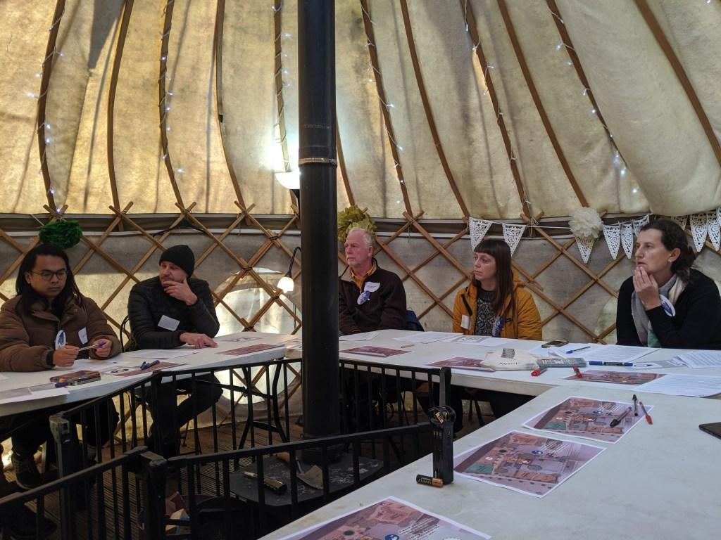 E1 City Farm Assembly in a yurt.