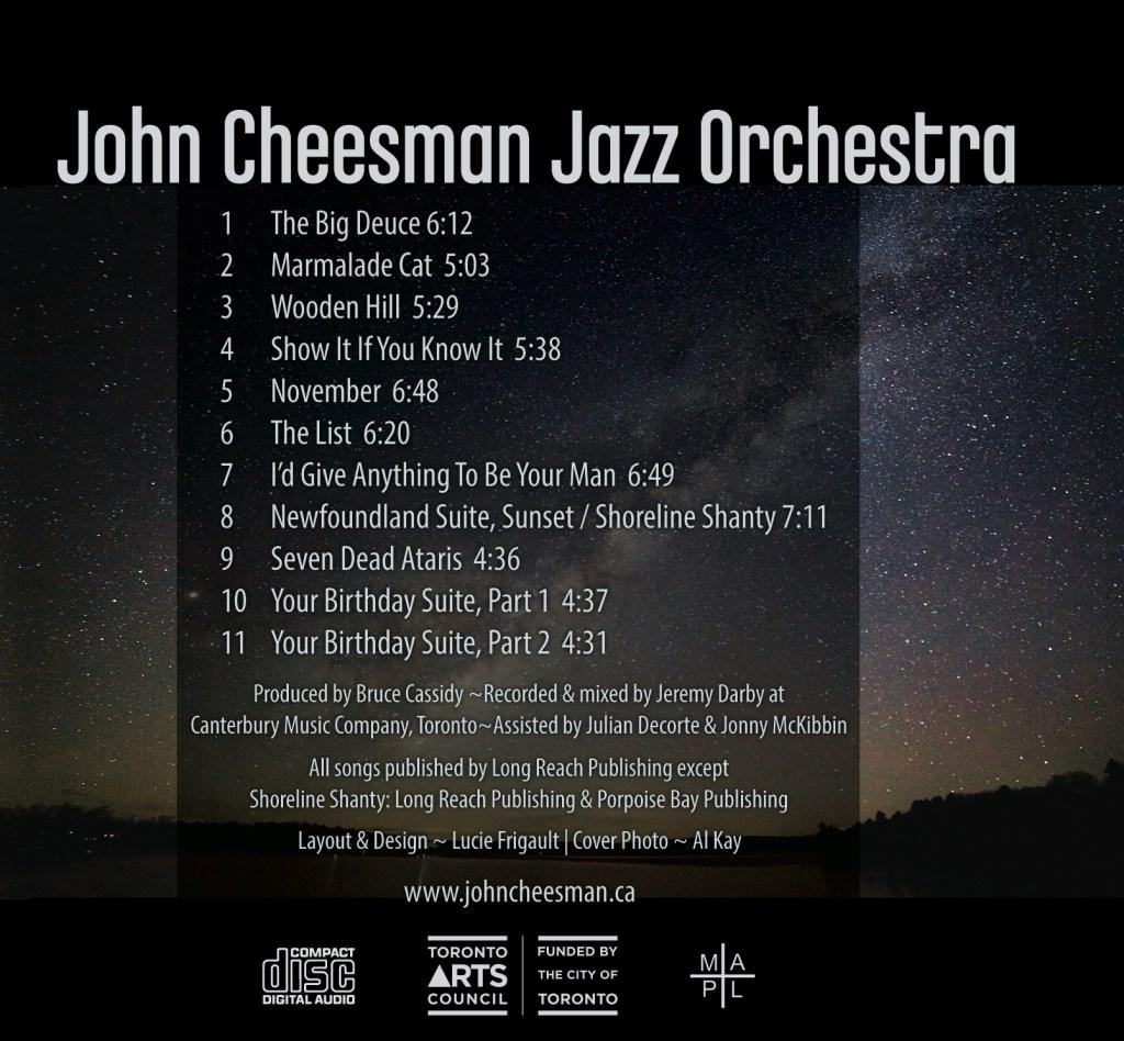 John Cheeseman Track Names