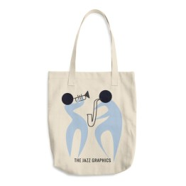 Cotton Tote Bag (trumpet and sax)