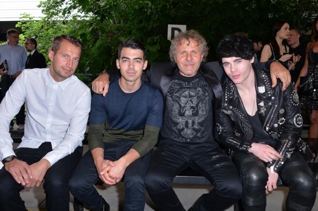 Brendan Fallis; Joe Jonas;Renzo Rosso;Leon Else