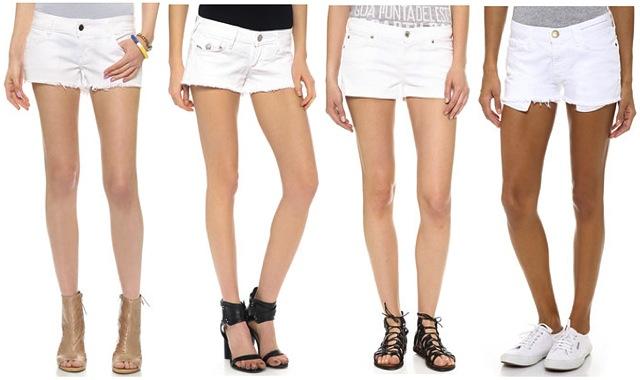 white-denim-shorts