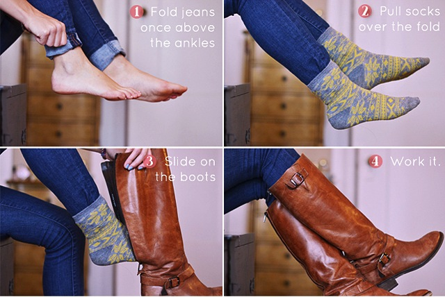 how-to-tuck-jeans-into-boots