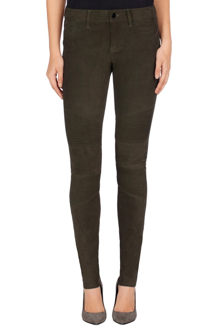 J Brand N8094 Tonya Leather Moto Jeans in Nubuck Camo