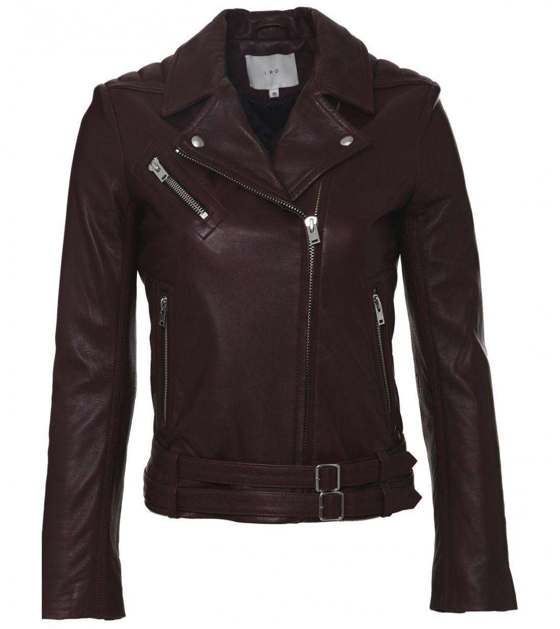 IRO-leather-moto-jacket-burgundy