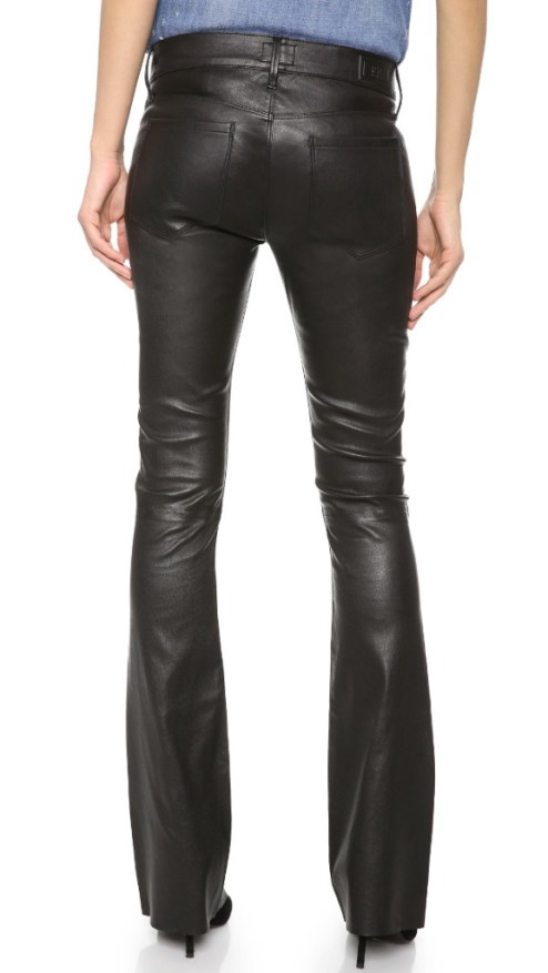 RTA Flare Leather Pants