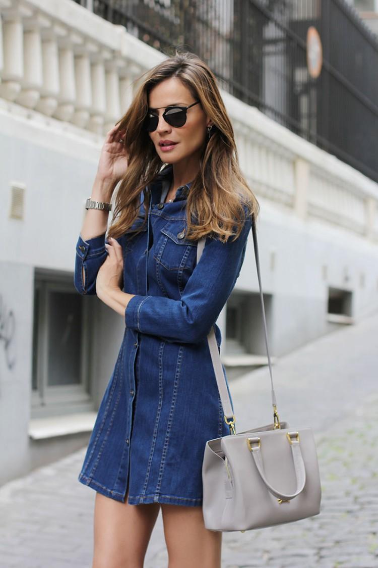 denim-button-front-dress