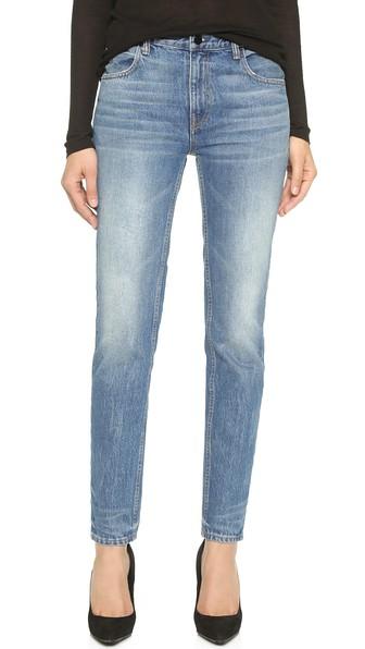 Denim x Alexander Wang 002 Relaxed Fit Skinny Jeans Light Indigo Aged