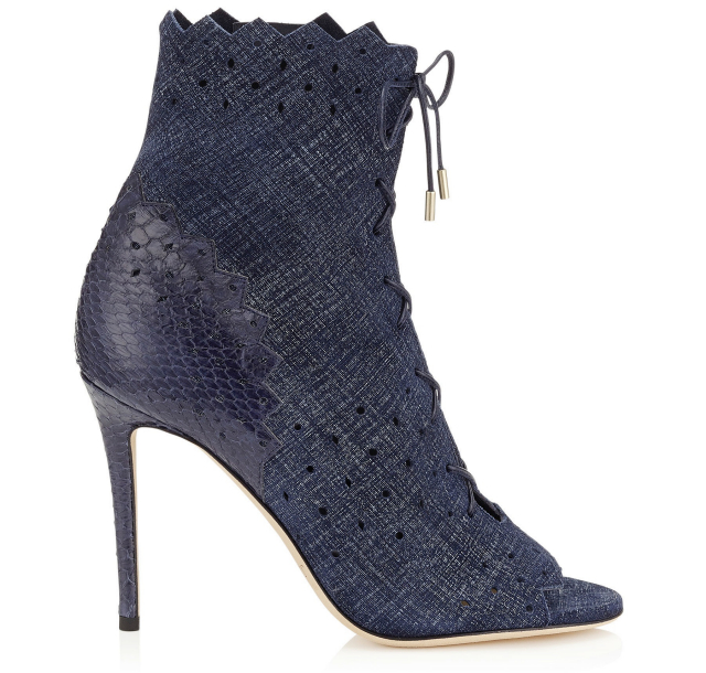 jimmy choo dei 100 denim heels