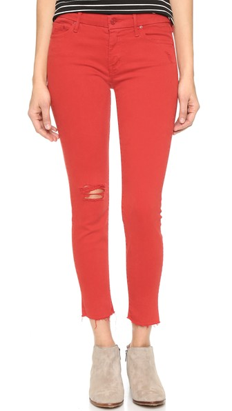 mother the looker jeans in cayenne