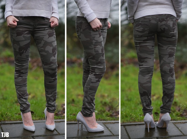 True Religion Casey Skinny Jeans in Camo