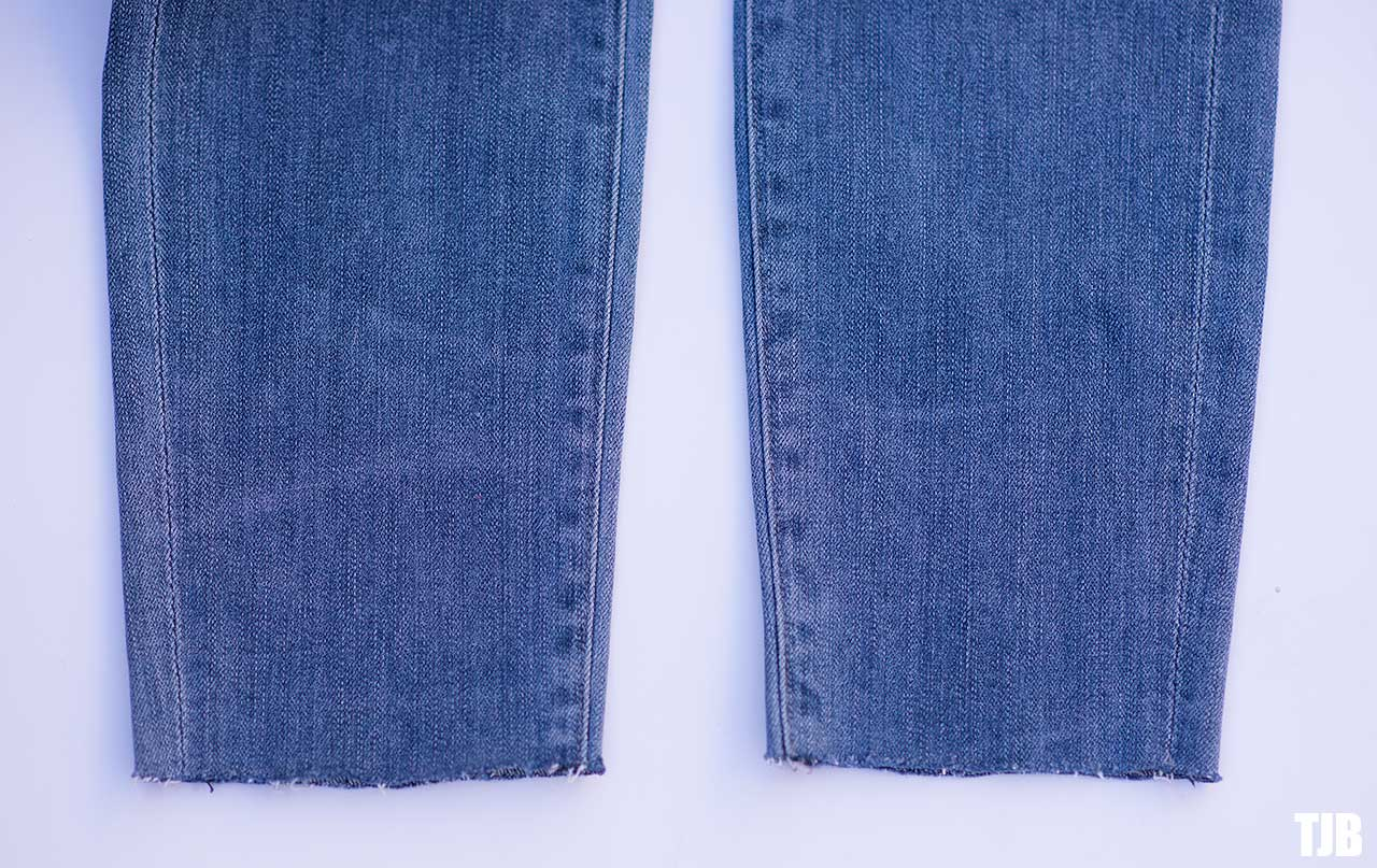 DIY Raw Hem Edge Chopped Hem How To Jeans 5