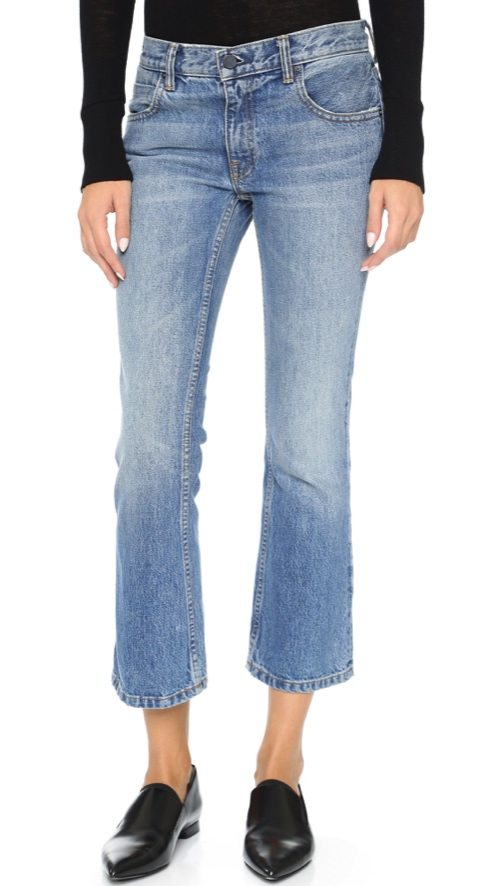 Denim x Alexander Wang Trap Cropped Boot Cut Jeans