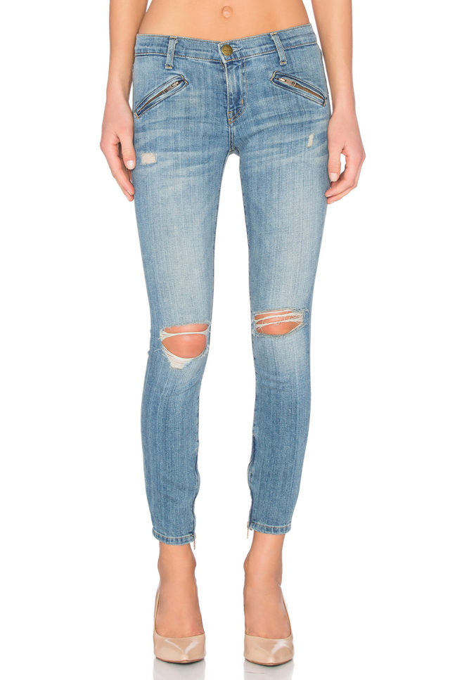 current elliott silverlake zip jeans
