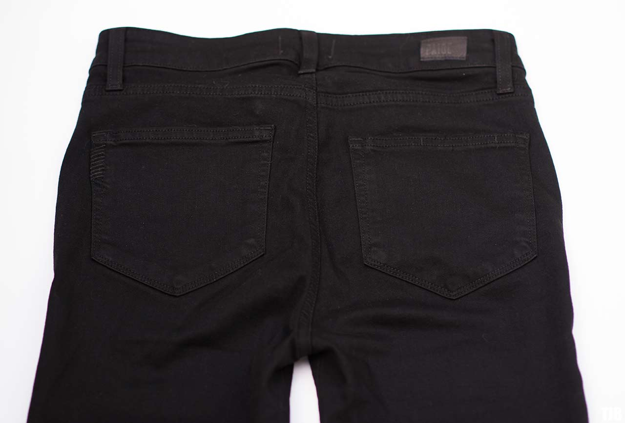 PAIGE High Rise Edgemont Jeans in Black Shadow Review 5