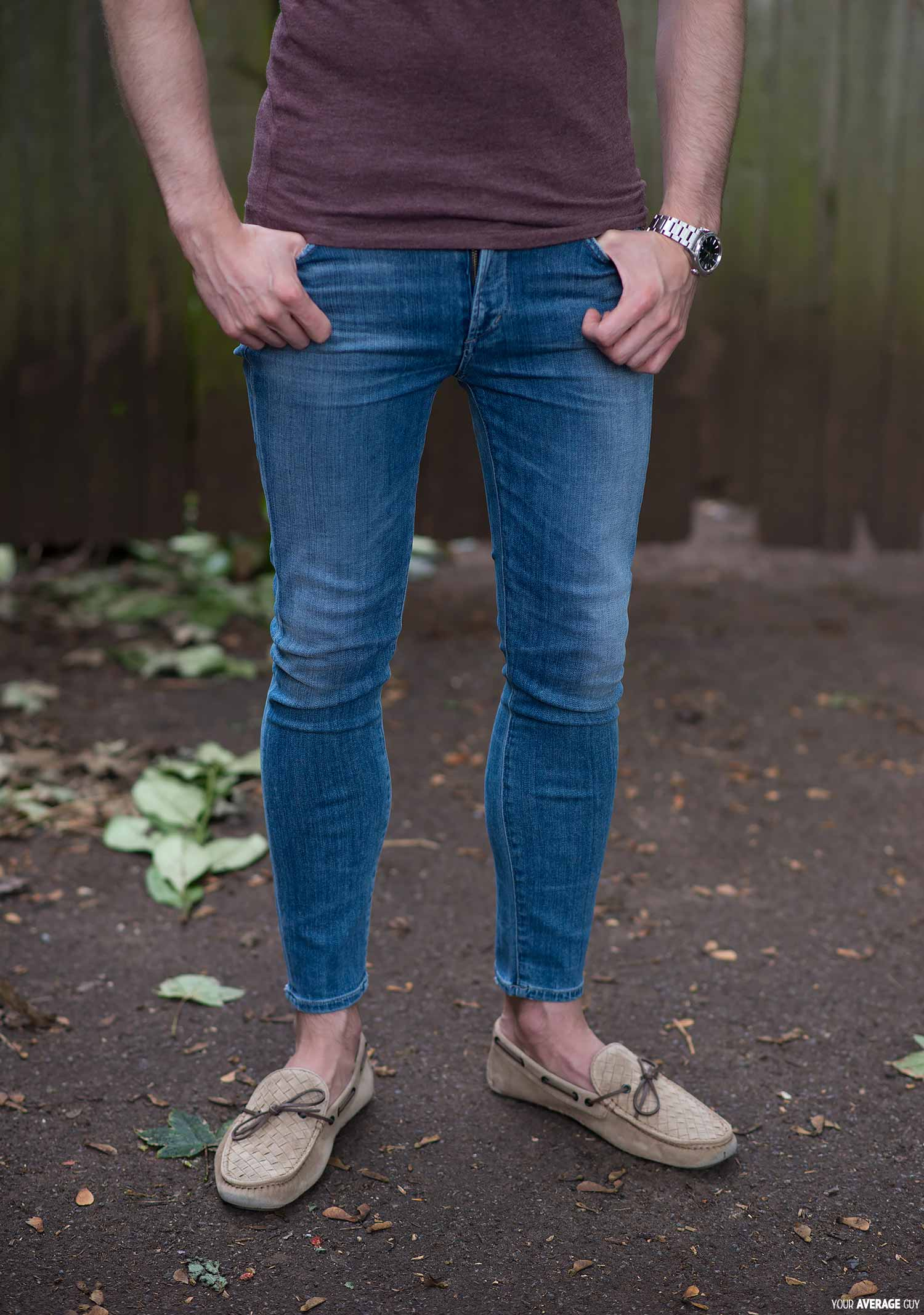 men wearing womens jeans