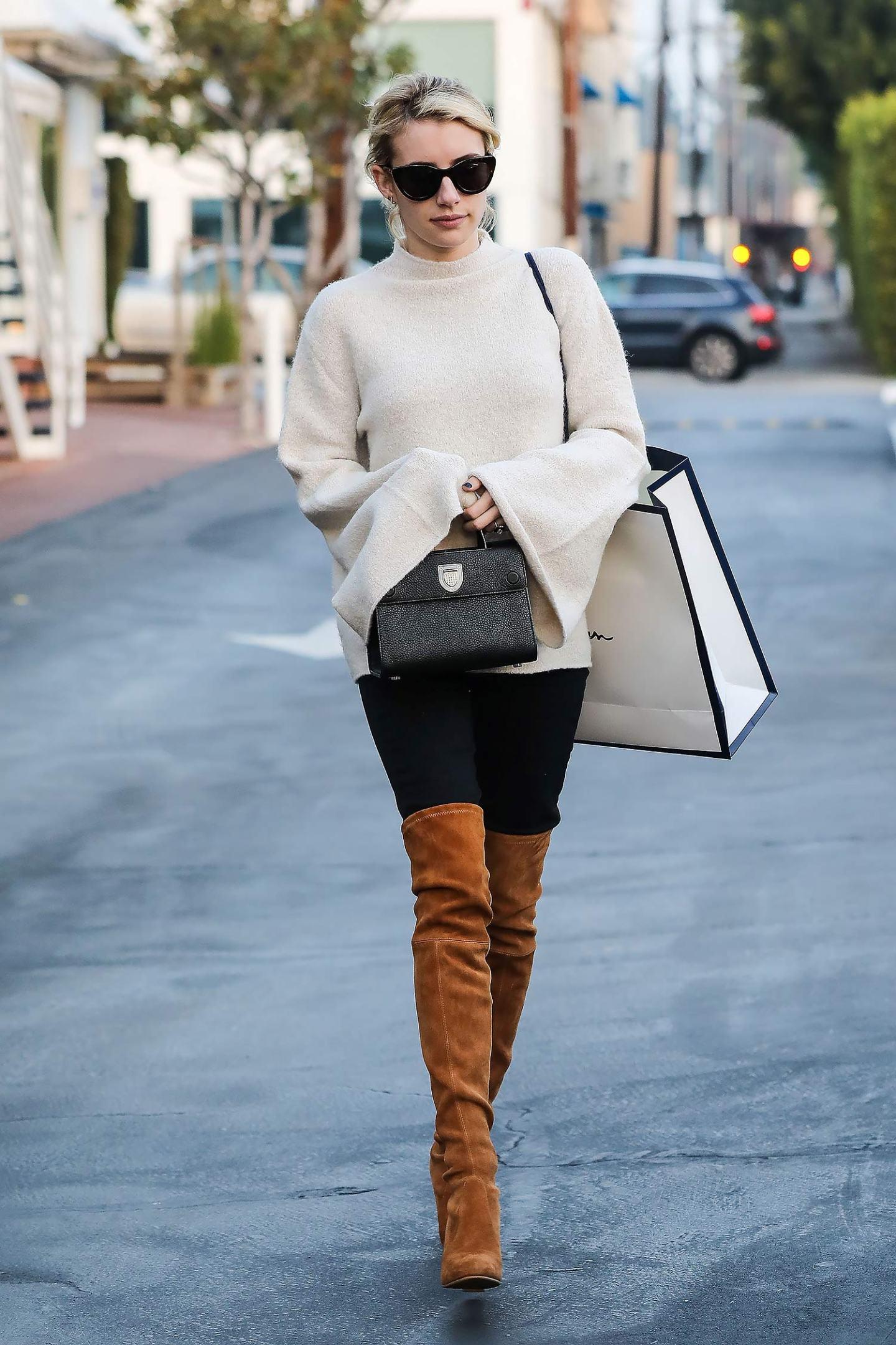 emma-roberts-stuart-weitzman-boots-jeans