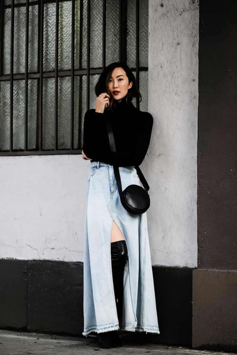 the-chriselle-factor-in-a-denim-skirt