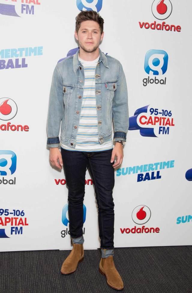 c632c2d7f3 Niall Horan Wears Double Denim Nudie Jeans   Levi s