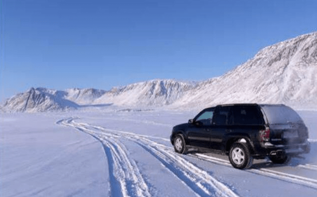 drive with snow