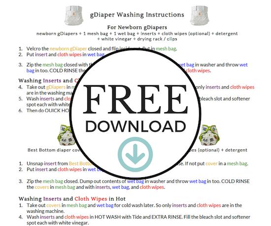 Download FREE Diaper Washing Printables.