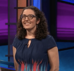 Susannah Nichols, winner of the September 1, 2017 Jeopardy! game