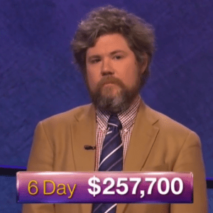 Austin Rogers, winner of the October 3, 2017 game of Jeopardy!