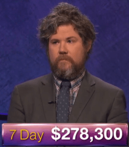 Austin Rogers, winner of the October 4, 2017 episode of Jeopardy!