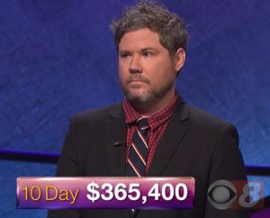 Austin Rogers, winner of the October 9, 2017 Jeopardy! episode