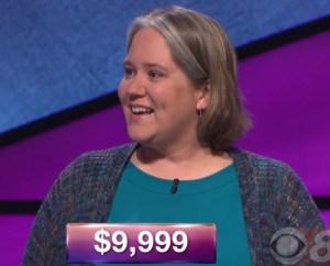 Joanna Kimmitt, tonight's Jeopardy! winner (for the October 18, 2017 episode.)