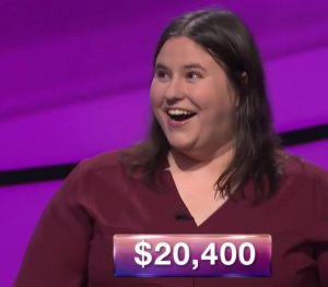 Kathkeen Kosman, tonight's Jeopardy! winner (for the October 20, 2017 episode.)
